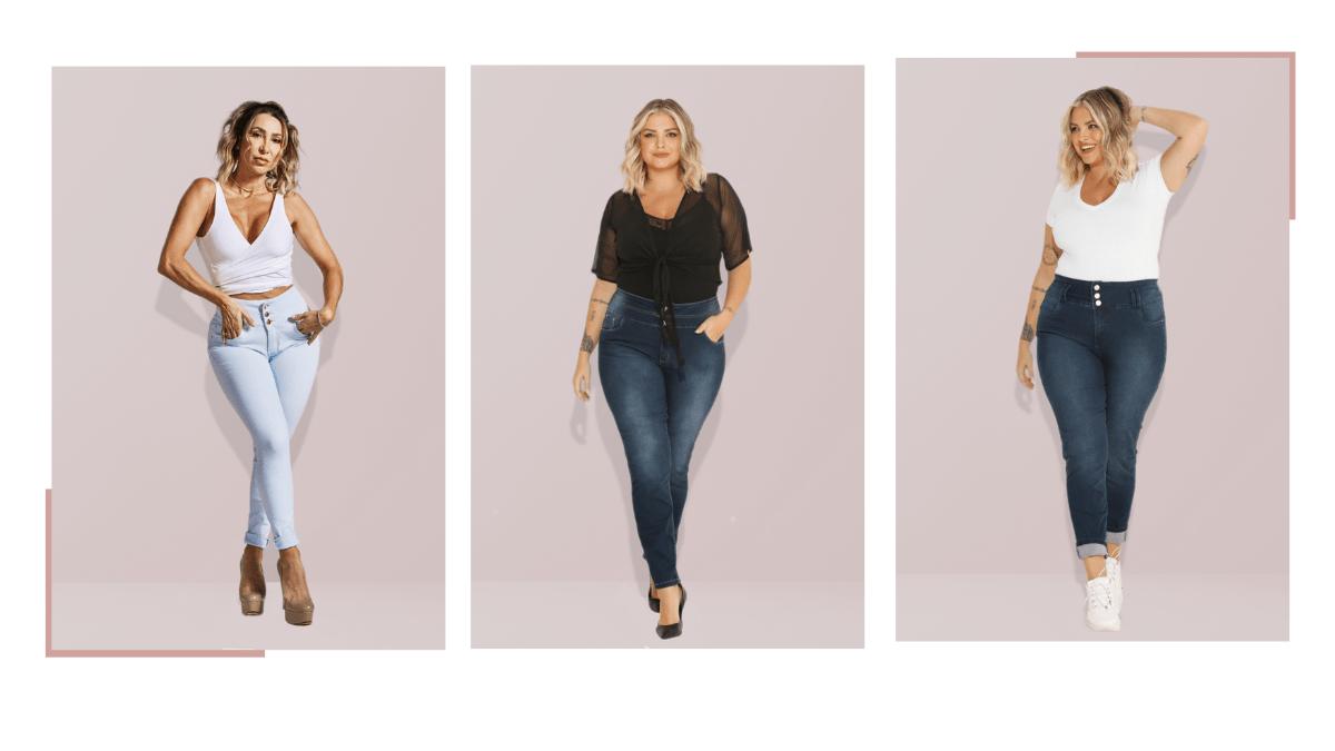 Calça jeans cintura super alta
