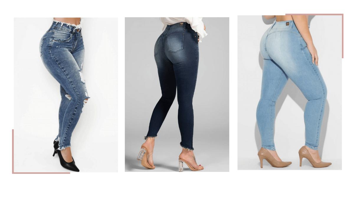 Calça jeans para mulheres baixas